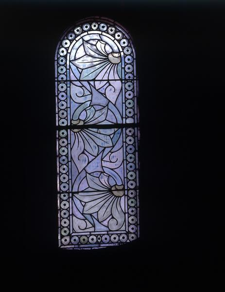 Ensemble de 10 verrières grisailles décoratives