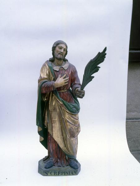 Statue (demi-nature) : saint Crépinien