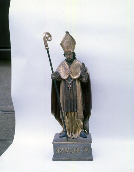 Statuette : saint Blaise de Sébaste