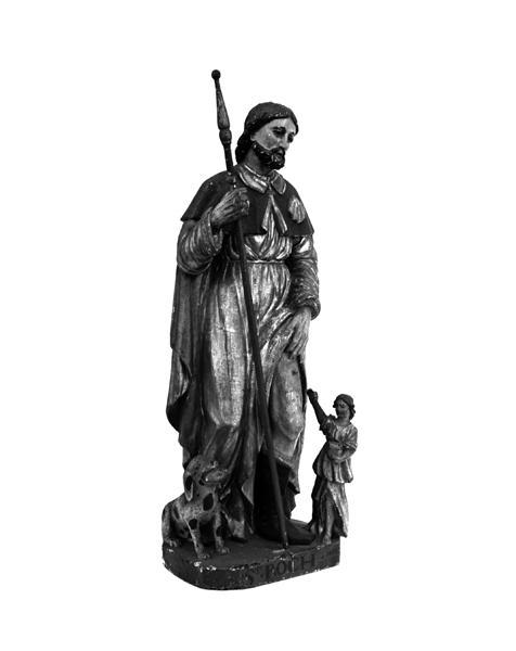 statue : saint Roch de Montpellier