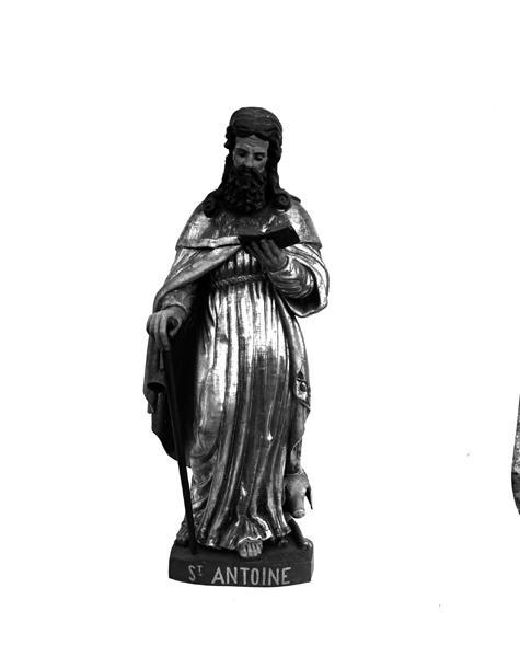 2 statues (demi-nature, petite nature) : saint Antoine abbé, saint Paul ermite