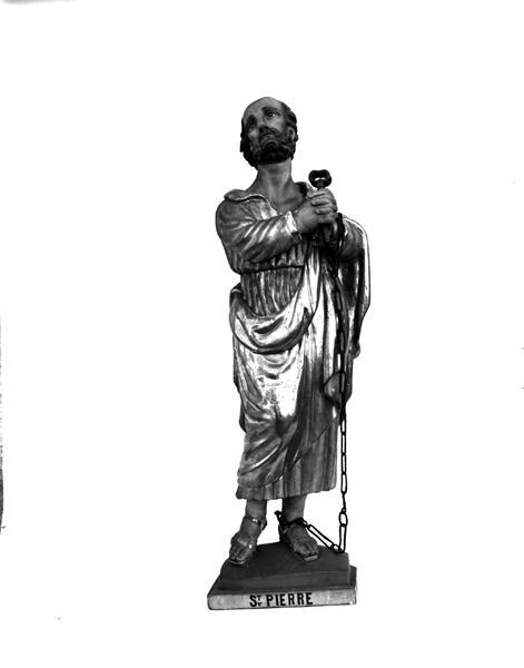 Statue (petite nature) : saint Pierre es liens