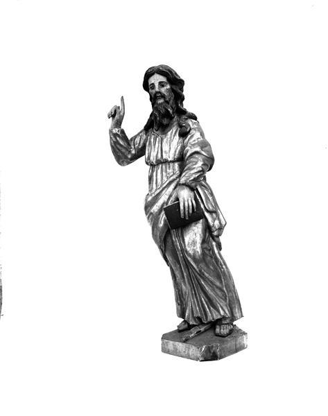 ensemble de 2 statues de Saint Antoine Abbé, Saint Paul Ermite