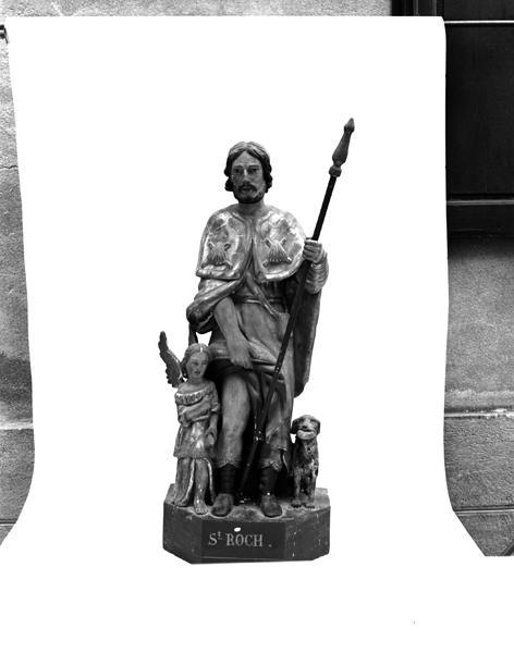 Statue (demi-nature) : saint Roch de Montpellier