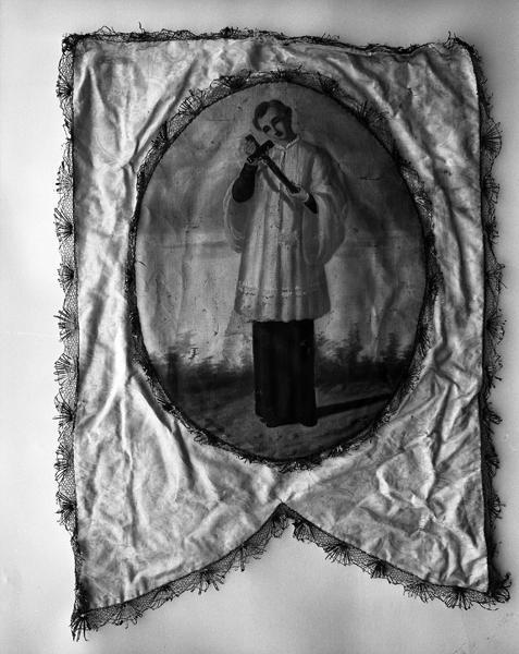 Bannière de procession : Immaculée Conception, saint Louis de Gonzague