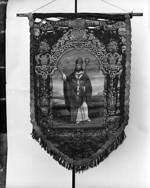 Bannière de procession : Immaculée Conception, saint Martin de Tours