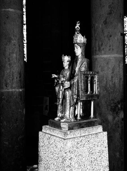 statue de procession : Vierge en majesté, dite Notre-Dame d'Orcival