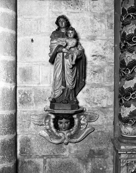 Statues du retable : Le Christ aux liens, La Vierge à l'Enfant, L'Education de la Vierge