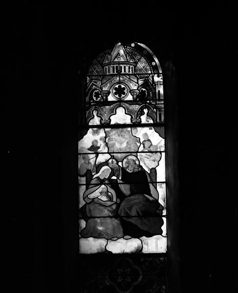 9 verrières du rond-point du choeur et du transept