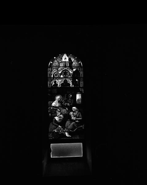 verrières (9) du rond-point du choeur et du transept : baies 0, 1, 2, 3, 4, 7, 8, 9, 10