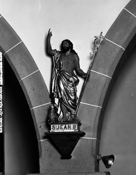 Statue (petite nature) de saint Jean-Baptiste