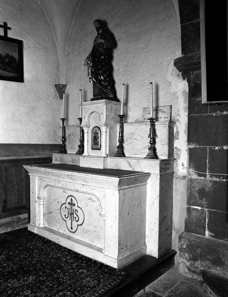 Ensemble des autels secondaires de la Vierge et du Sacré-Coeur