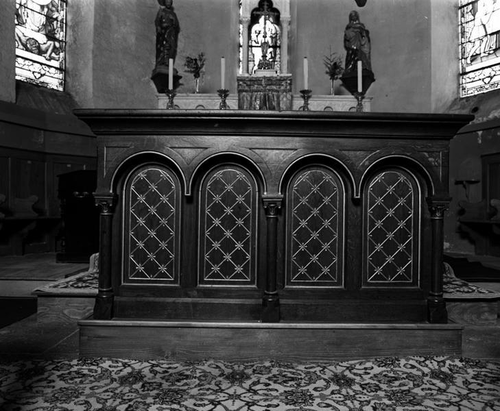 Le mobilier de la chapelle