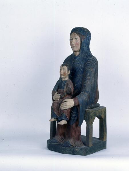 Statue : Vierge à l'Enfant : Vierge en Majesté