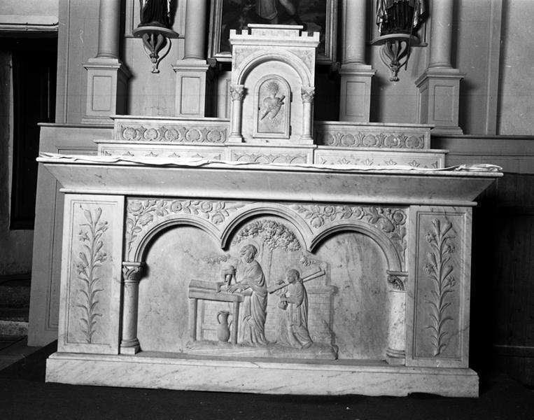Autel, retable, statues, tableau : autel Saint-Joseph