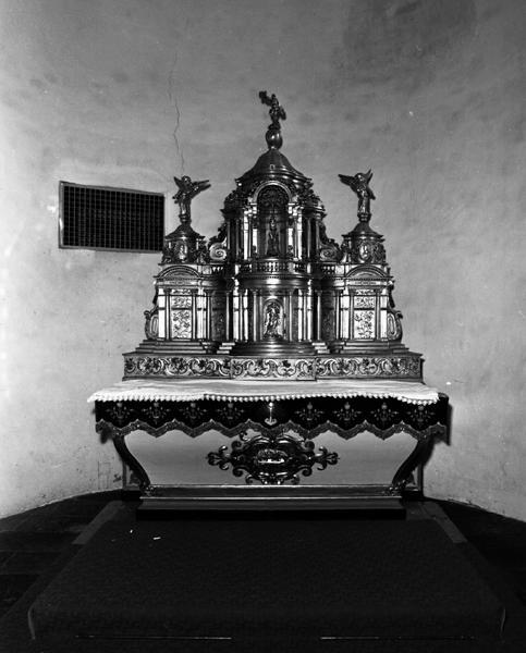 Ensemble du maître autel, tabernacle à ailes et exposition