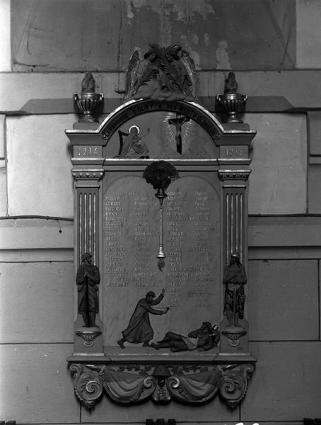 Tableau commémoratif des morts de la guerre de 1914-1918