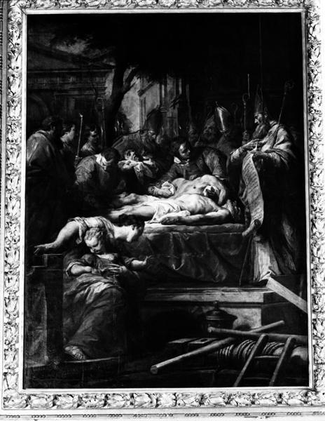 tableau : l'Invention et la translation des corps de saint Gervais et de saint Protais