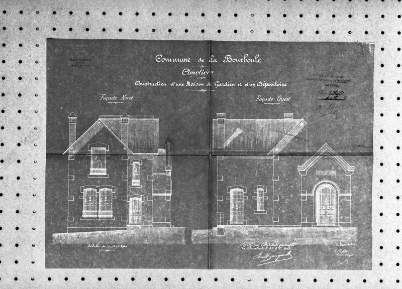 maison de gardien du cimetière ; monument sépulcral