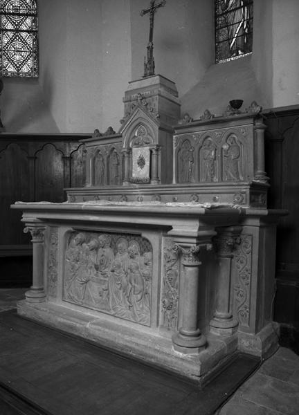 Autel, gradin, tabernacle à dais d'exposition, retable (maître-autel)