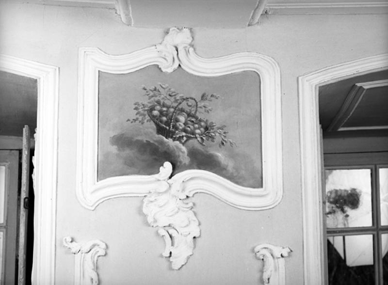 ensemble du décor de lambris de hauteur, gypseries, de l'ancienne salle à manger (actuel grand salon)
