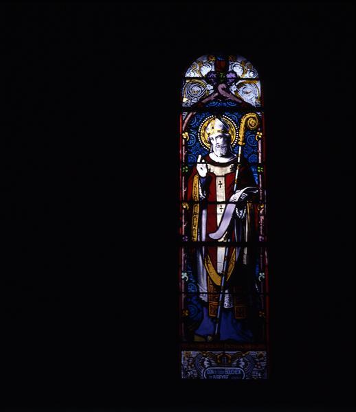 Ensemble de 11 verrières : baie 1 : saint Didier