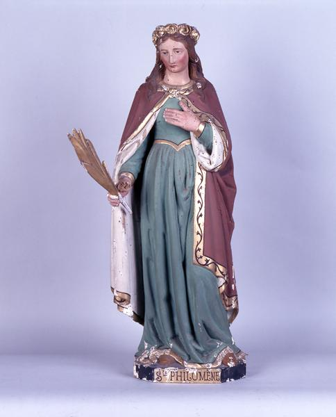 statue (demi-nature) : sainte Philomène