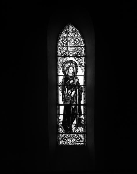 verrière (12) : baie 9, sainte Catherine d'Alexandrie