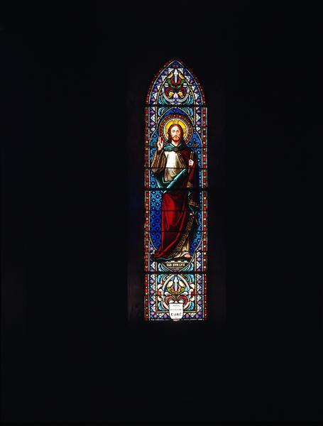 Verrières (12) : baie 0, Christ bénissant