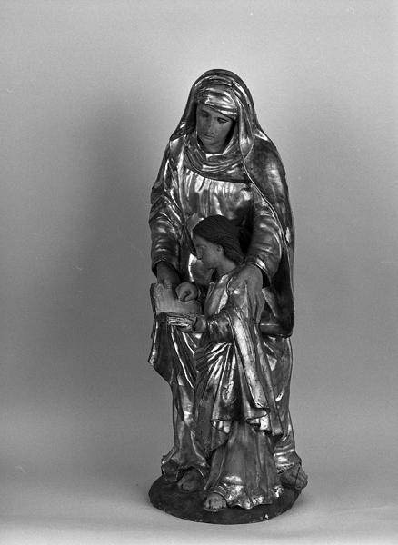 Groupe sculpté : l'éducation de la Vierge