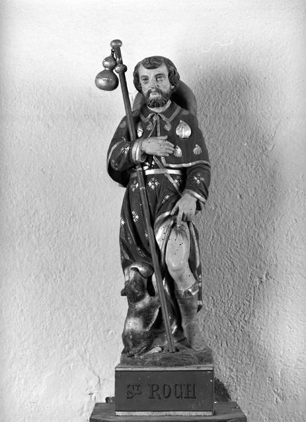statue (statuette) : saint Roch