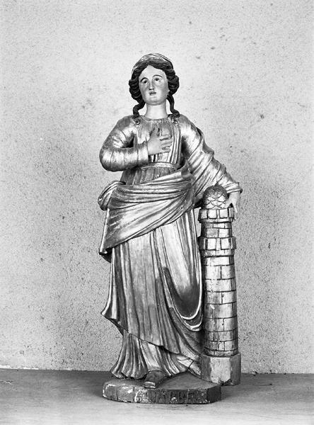 Statue (petite nature) de sainte Barbe