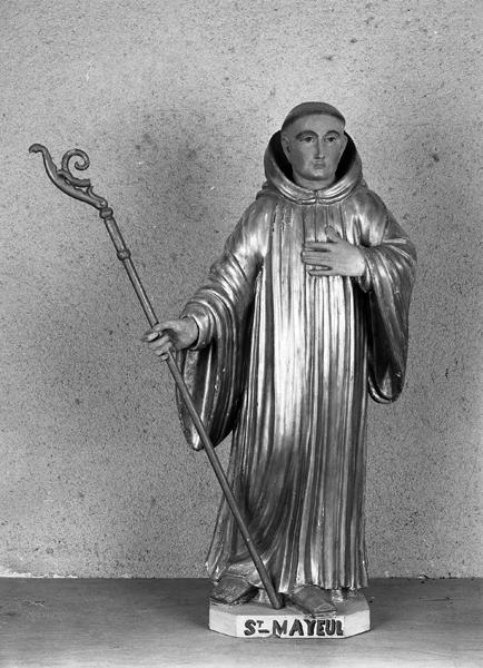 statue (petite nature) de saint Mayeul