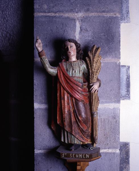 statues de saint Abdon et saint Sennen (demi-nature, en pendant)