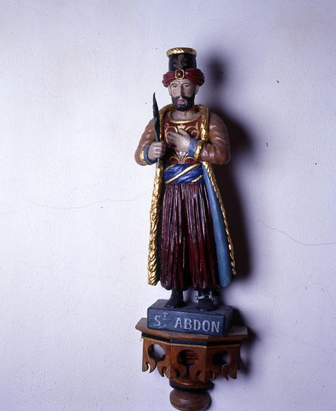 Statues de saint Abdon et saint Sennen