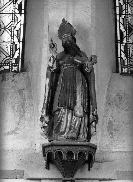 Statue (demi-nature) d'un saint évêque : saint Blaise (?)