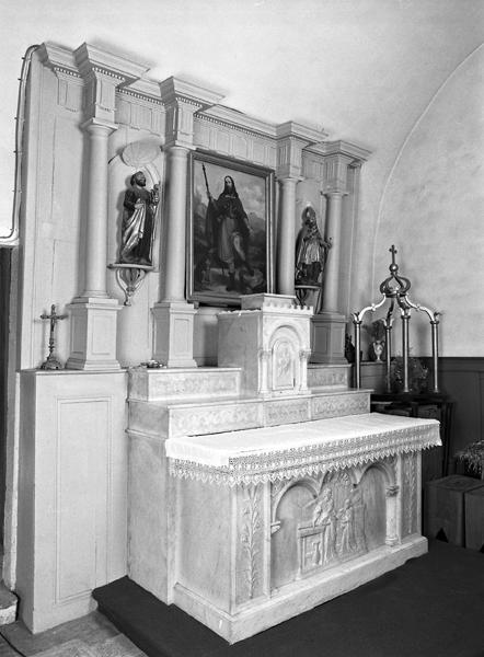 Autel, retable, statues, tableau (autel Saint-Joseph)