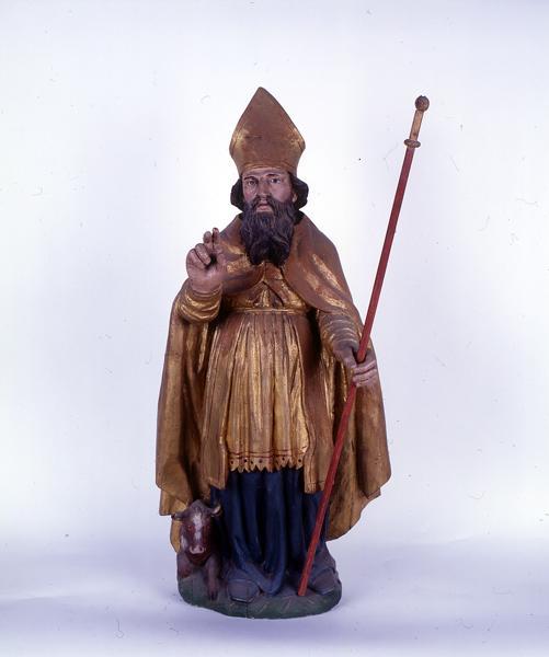 ensemble de 2 statuettes : saint Blaise, saint Pierre