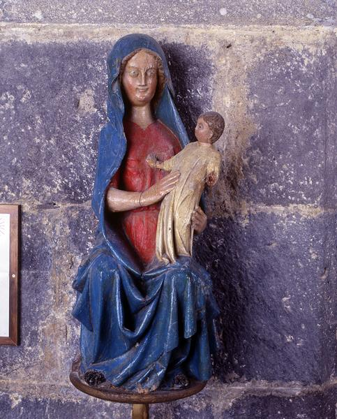 statue-reliquaire (statuette) : Vierge à l'Enfant