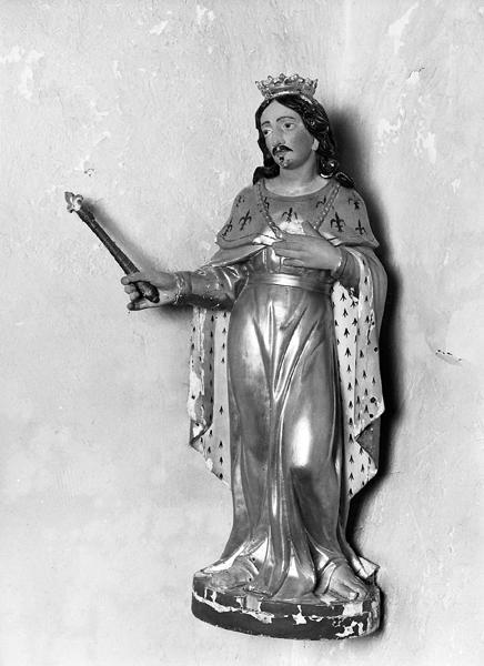 statue (statuette) : saint Louis
