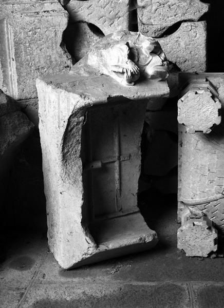 Fragment de statue : Annonce aux bergers