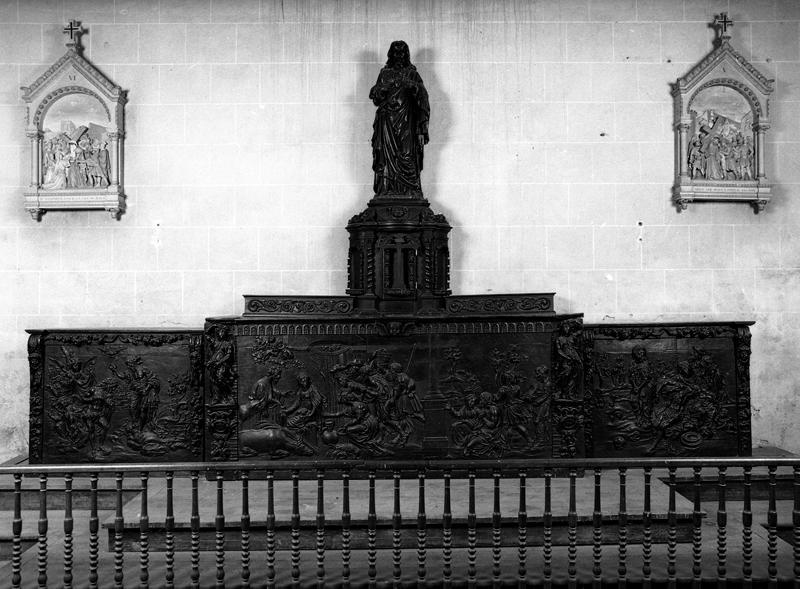 Autel, gradin d'autel, tabernacle et sculpture de la chapelle de Notre-Dame de Lorette ?