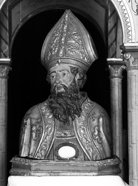 Buste-reliquaire de procession de saint Menou et saint Blaise