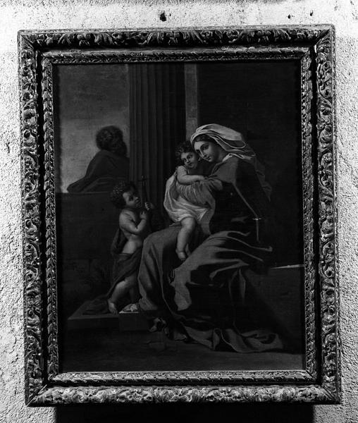 Tableau et son cadre : Sainte-Famille