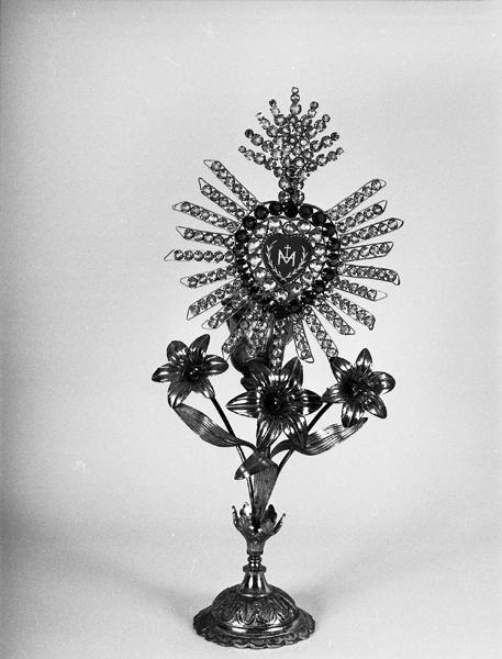 Veilleuse votive au monogramme de la Vierge