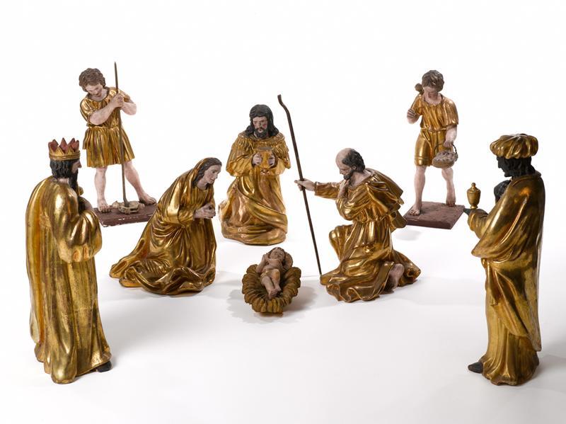 crèche de Noël : ensemble de 10 statuettes