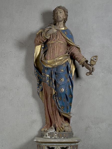 ensemble de quatre statues : saint Pierre, saint Paul, saint Jean-Baptiste, saint Jean l'Evangéliste