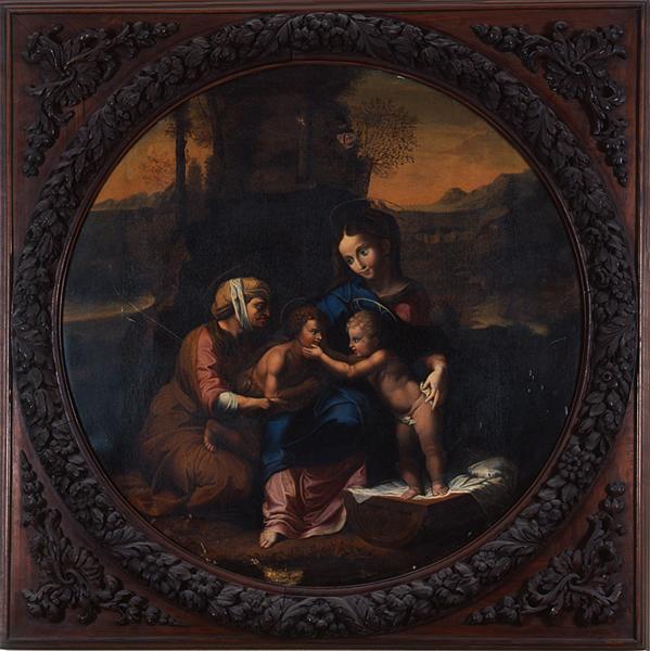 tableau : Vierge à l'Enfant avec sainte Elisabeth et saint Jean-Baptiste enfant