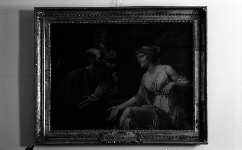 tableau : Socrate et Alcibiade rendant visite à Aspasie