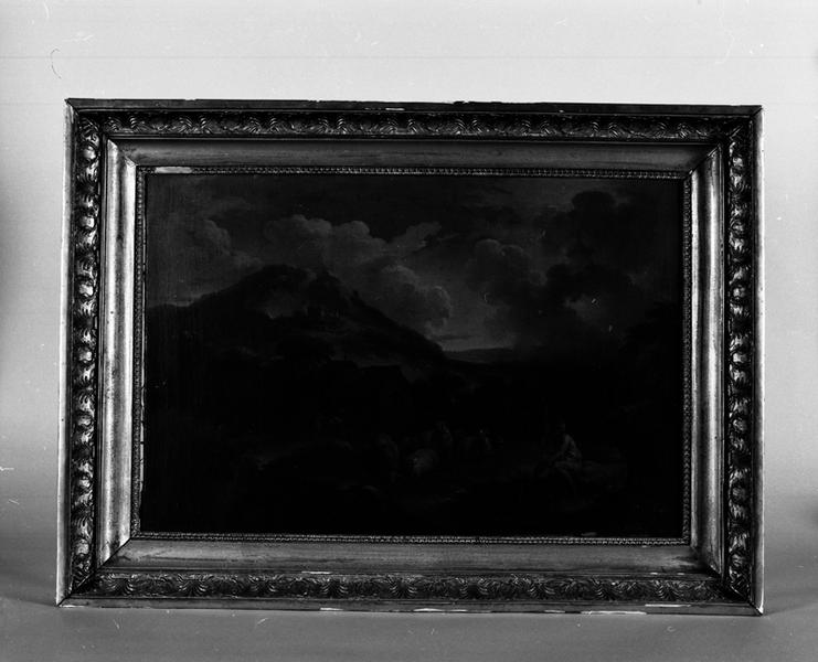 tableau : paysage et berger